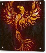 Fiery Phoenix Acrylic Print
