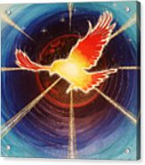 Fiery Raven Acrylic Print