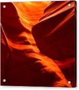 Fiery Sandstone Abstract Acrylic Print