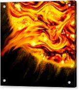 Fiery Sun Erupting With M1.7 Class Solar Flare Acrylic Print