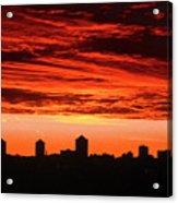 Fiery Sunrise Acrylic Print