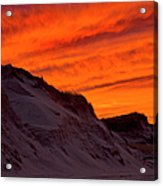 Fiery Sunset Over The Dunes Acrylic Print