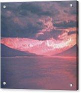 Fiery Volcano Acrylic Print