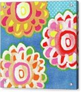 Fiesta Floral 3- Art By Linda Woods Acrylic Print