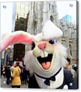 Fifth Ave Easter Bunny Acrylic Print