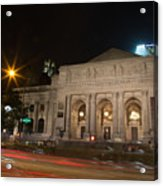 Fifth Avenue And Library Acrylic Print
