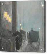 Fifth Avenue, Evening Acrylic Print