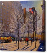Fifth Avenue - Late Winter At The Met Acrylic Print