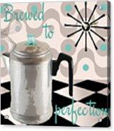 Fifties Kitchen Coffee Pot Perk Coffee Acrylic Print