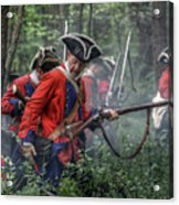 Fight In The Forest Bushy Run 1763 Acrylic Print