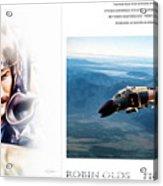 Robin Olds Fighter Pilot Acrylic Print