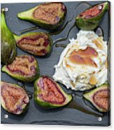 Figs Dessert With Mascarpone Acrylic Print