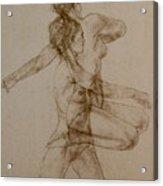 Figurative Movement Acrylic Print