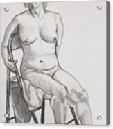 Figure Drawing Acrylic Print