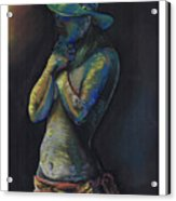 Figure Hat And Scarf Acrylic Print