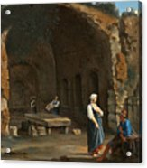 Figures At The Cave Of Egeria Acrylic Print
