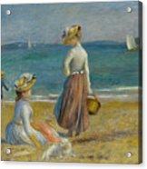 Figures On The Beach, 1890 Acrylic Print