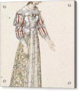 Figurine In Medieval Dress, Acrylic Print