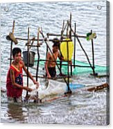 Filipino Fishing Acrylic Print