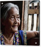 Filipino Lola - Image Number Fourteen  Acrylic Print