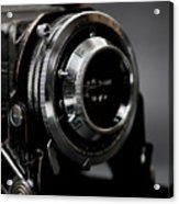 Film Camera In Black Acrylic Print
