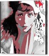 Film Homage Collage Eugene Robert Richee Photo Clara Bow 1 Circa 1927-2013 Acrylic Print