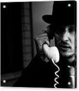 Film Noir Detective On Telephone Acrylic Print