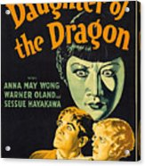 Film Poster For Daughter Of The Dragon Acrylic Print