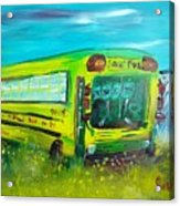 Final Bus Stop  Acrylic Print by Steve Jorde