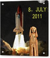 Final Shuttle Mission 8th July 2011 Acrylic Print by Eric Kempson