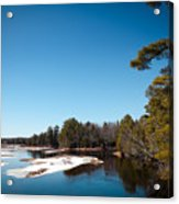 Final Winter Days On The Moose River Acrylic Print