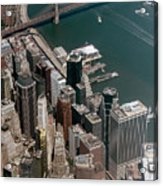 Financial District Nyc Aerial Photo Acrylic Print