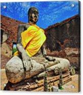Finding, Not Seeking At Wat Worachetha Ram In Ayutthaya, Thailand Acrylic Print