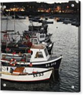 Fine Art- Boats St Ives Harbour Acrylic Print