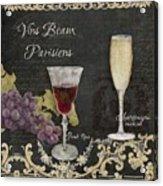 Fine French Wines - Vins Beaux Parisiens Acrylic Print