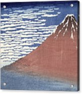 Fine Weather With South Wind Acrylic Print by Hokusai