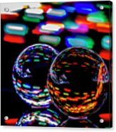 Finger Light Painted Glass Ball Abstract Acrylic Print