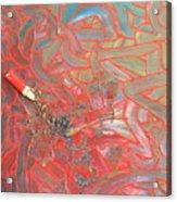 Finger Painting Acrylic Print