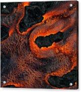 Fingers Of Lava Acrylic Print