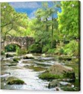 Fingle Bridge - P4a16007 Acrylic Print