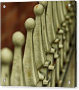 Finials All In A Row Acrylic Print