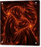Fire Abstraction Acrylic Print