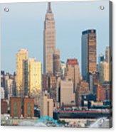Fire Boat And Manhattan Skyline IIi  Acrylic Print