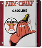 Fire-chief Sign Acrylic Print