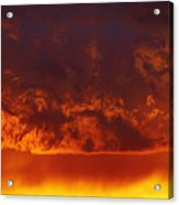 Fire Clouds Acrylic Print by Michal Boubin