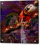 Fire Dancer-glory Realms Acrylic Print