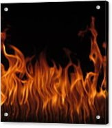 Fire Dancers Acrylic Print