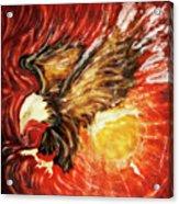 Fire Eagle Acrylic Print