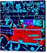 Fire Engine Red In Blue Acrylic Print