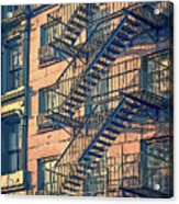 Fire Escape Acrylic Print